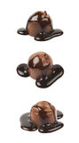 Doces do doce do chocolate isolados Fotos de Stock Royalty Free