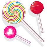 Doces do Lollipop ilustração stock