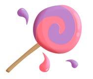 doces do lollipop ilustração do vetor