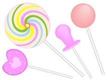 Doces do Lollipop ilustração royalty free