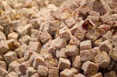 Doces do loukoum com açúcar pulverizado Fotografia de Stock Royalty Free