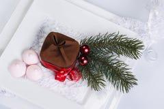 Doces do Natal para a tabela do feriado Foto de Stock