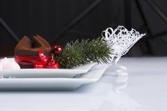 Doces do Natal para a tabela do feriado Foto de Stock Royalty Free