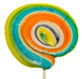 Doces doces coloridos, vara do pirulito, doces da São Nicolau, candys isolados, fundo branco do Natal Imagem de Stock Royalty Free