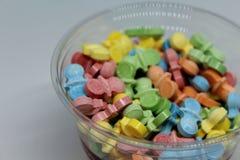 Doces duros e coloridos para satisfazer o guloso fotografia de stock