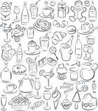 Doces e bebidas Fotografia de Stock