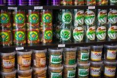 Doces e cookies com marijuana Imagem de Stock Royalty Free