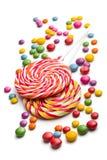 Doces e lollipop coloridos Fotografia de Stock Royalty Free