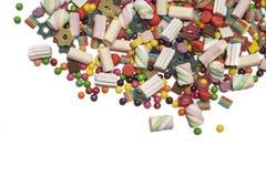 Doces e marshmallows coloridos Fotografia de Stock Royalty Free
