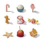 Doces e pastelarias do Natal Imagens de Stock Royalty Free