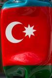 Doces grandes turcos da bandeira do ` s da estátua dados forma Fotos de Stock