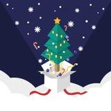 Doces isométricos da fita do Natal e do ornamento para explodir do branco ilustração do vetor