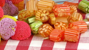 Doces Jelly Lolly doce e Sugar Dessert delicioso vídeos de arquivo