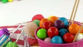 Doces Jelly Lolly doce e Sugar Dessert delicioso video estoque