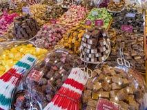 Doces, loja dos doces em Malmö, Suécia, Europa fotografia de stock royalty free
