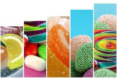 Doces Lolly Sugary Collage doce fotografia de stock