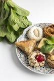 Doces marroquinos típicos homemade Isolado imagem de stock
