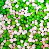 Doces redondos verdes e brancos Imagens de Stock