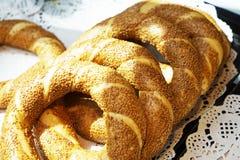 Doces sortidos dos croissant dos bolos da sobremesa Foto de Stock Royalty Free