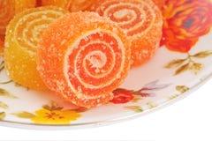 Doces sugary da fruta colorida Fotos de Stock Royalty Free