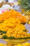 Doces tailandeses em uma cerimónia budista Imagens de Stock