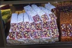 Doces tradicionais do lokum do loukoum Foto de Stock Royalty Free