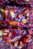 Doces tradicionais do lokum do loukoum Imagem de Stock