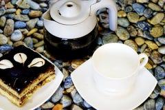 Doces turcos orientais baklava e xícara de café Imagem de Stock Royalty Free