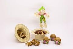 Doces variados do amendoim, brasileiro típico Peça tradicional de Junina Imagens de Stock Royalty Free