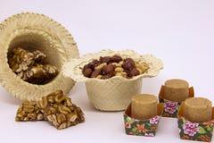 Doces variados do amendoim, brasileiro típico Peça tradicional de Junina Imagens de Stock