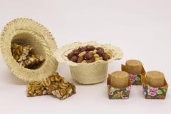 Doces variados do amendoim, brasileiro típico Peça tradicional de Junina Imagem de Stock Royalty Free