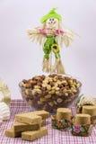 Doces variados do amendoim, brasileiro típico Peça tradicional de Junina Fotografia de Stock