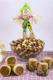 Doces variados do amendoim, brasileiro típico Peça tradicional de Junina Fotos de Stock Royalty Free