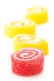 Doces vermelhos e amarelos Fotos de Stock