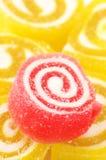 Doces vermelhos e amarelos Foto de Stock Royalty Free