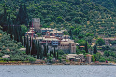 Docheiariou monastery on Mount Athos Royalty Free Stock Images