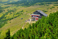 Dochia Hut. Resting and recovering place on ceahlau mountain, romania Stock Images