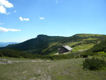 Dochia Hut. Resting and recovering place on ceahlau mountain, romania Stock Photos