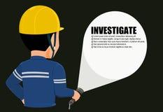dochodzenie ilustracja wektor
