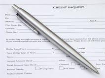 dochodzenie w sprawie kredytu Zdjęcia Royalty Free