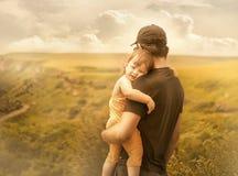 Dochter en vader royalty-vrije stock foto