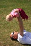 Dochter en Vader Stock Foto's