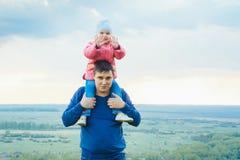 Dochter en vader Stock Foto