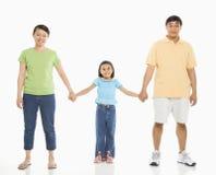 Dochter met ouders. Royalty-vrije Stock Afbeeldingen