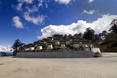 Dochu La pass, Bhutan with 108 Chorten Royalty Free Stock Photos