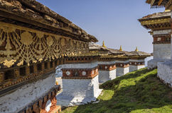 Dochula通行证, Punakha,不丹 库存照片