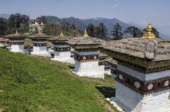 Dochula通行证, Punakha,不丹 图库摄影