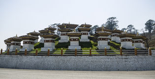 Dochula通行证, Punakha,不丹 免版税图库摄影