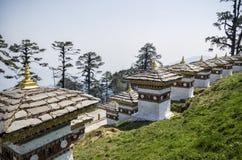 Dochula通行证, Punakha,不丹 库存图片