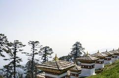 Dochula通行证, Punakha,不丹 免版税库存图片